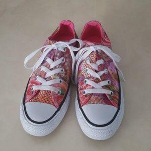 Converse womens pink print sneakers 5